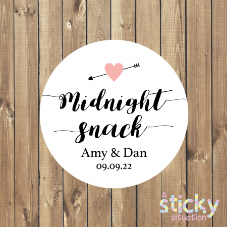Personalised 'Midnight Snack' Stickers